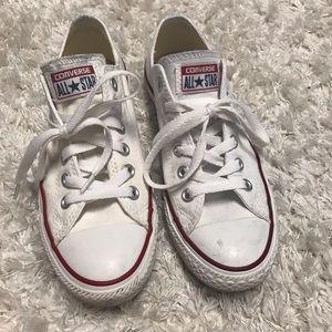 Converse white sneakers. Women's size 7